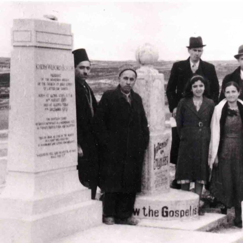 Hindoian Family at Joseph W. Booth Gravesite