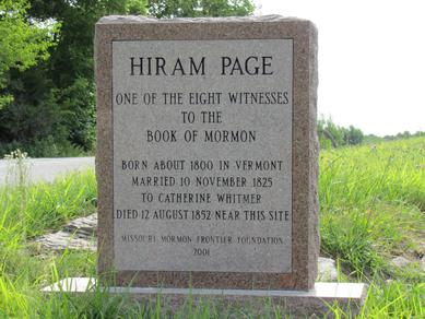 Hiram Page died in 1855 and is buried in Ray County, Missouri.