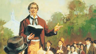 Joseph Smith teaching the Saints.