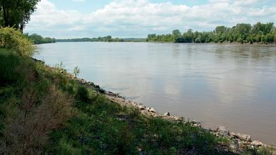 A photograph of the Missouri River