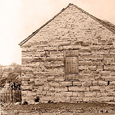 Historic photograph of Liberty Jail