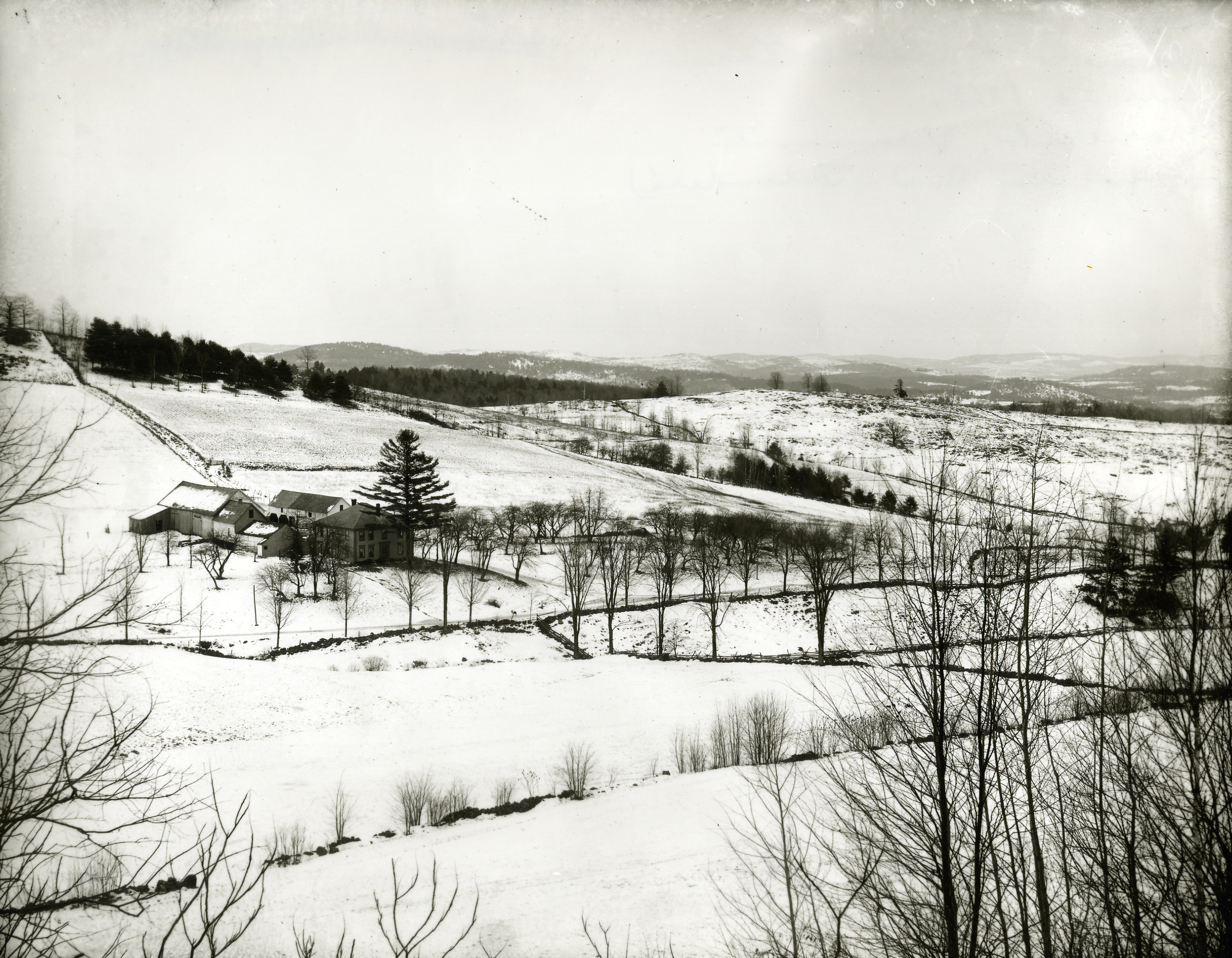 Squire Murdock's farm in Norwich, Vermont, circa 1907; photo by George E. Anderson