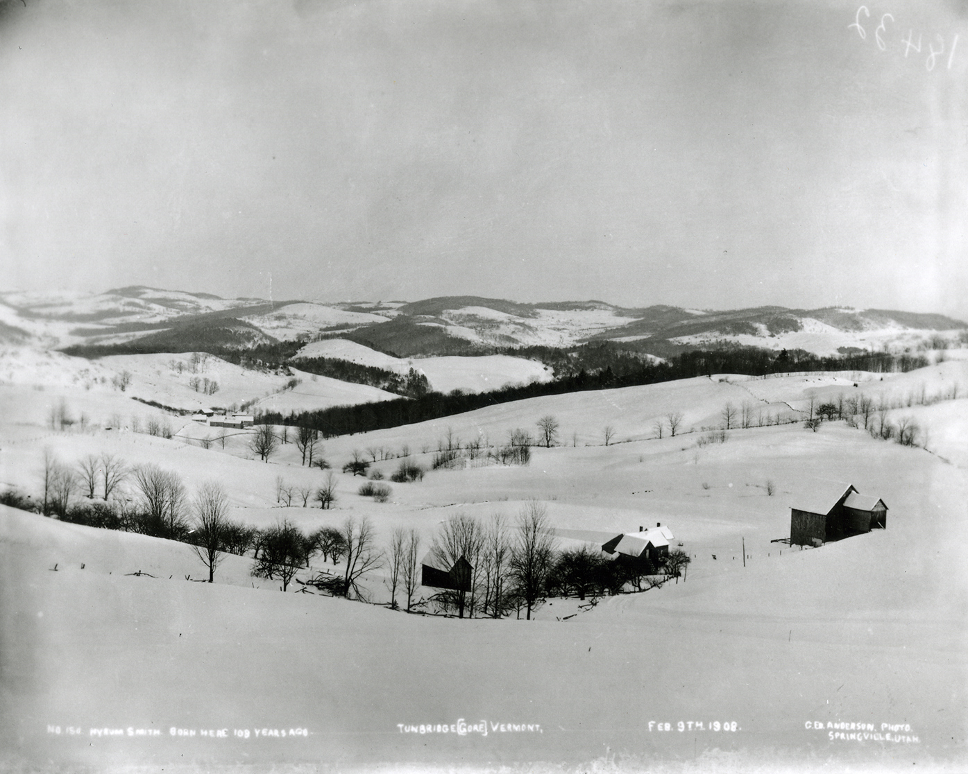 Tunbridge Vermont, February 1908. Photo by George E. Anderson