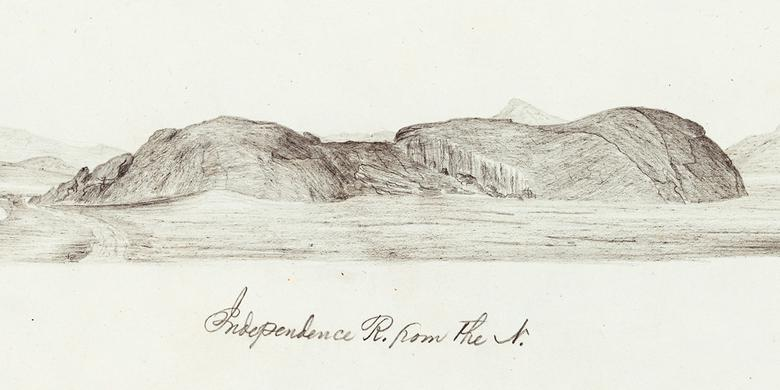 Pioneer sketches artist william quesenbury sketched scenery curiosities and stupendous rocks for orator and entrepreneur john wesley jones publicscrutiny Image collections