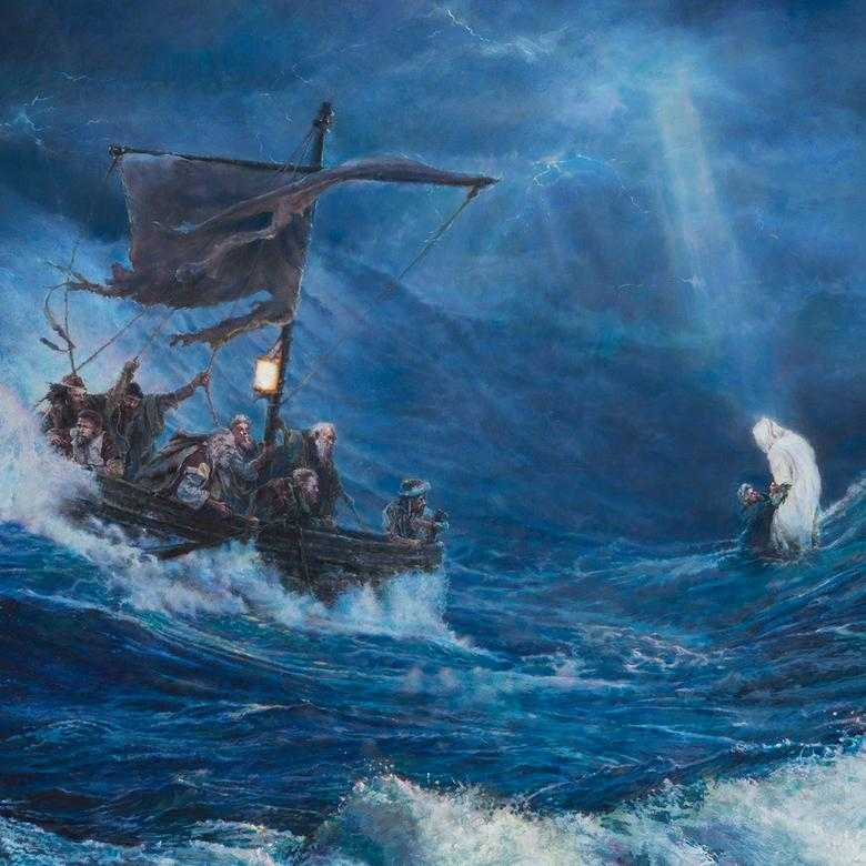 An oil painting by Kelly Lane Pugh depicting the saving power of our Redeemer.
