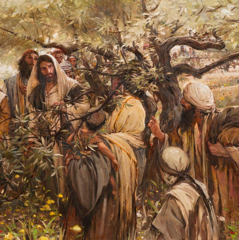 An oil painting by Walter Rane depicting the sacrifice required of Christ's disciples.