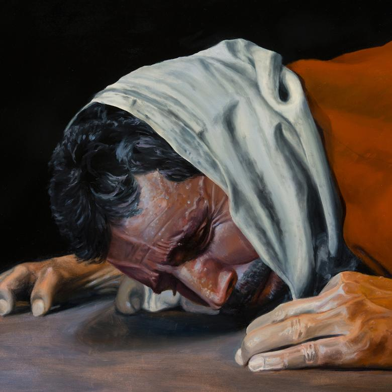 An oil painting by Lester Lee Yocum depicting the Atonement.