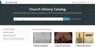 Search the Church History Catalog