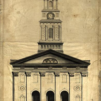 Nauvoo Temple Front Elevation, circa 1841–1845