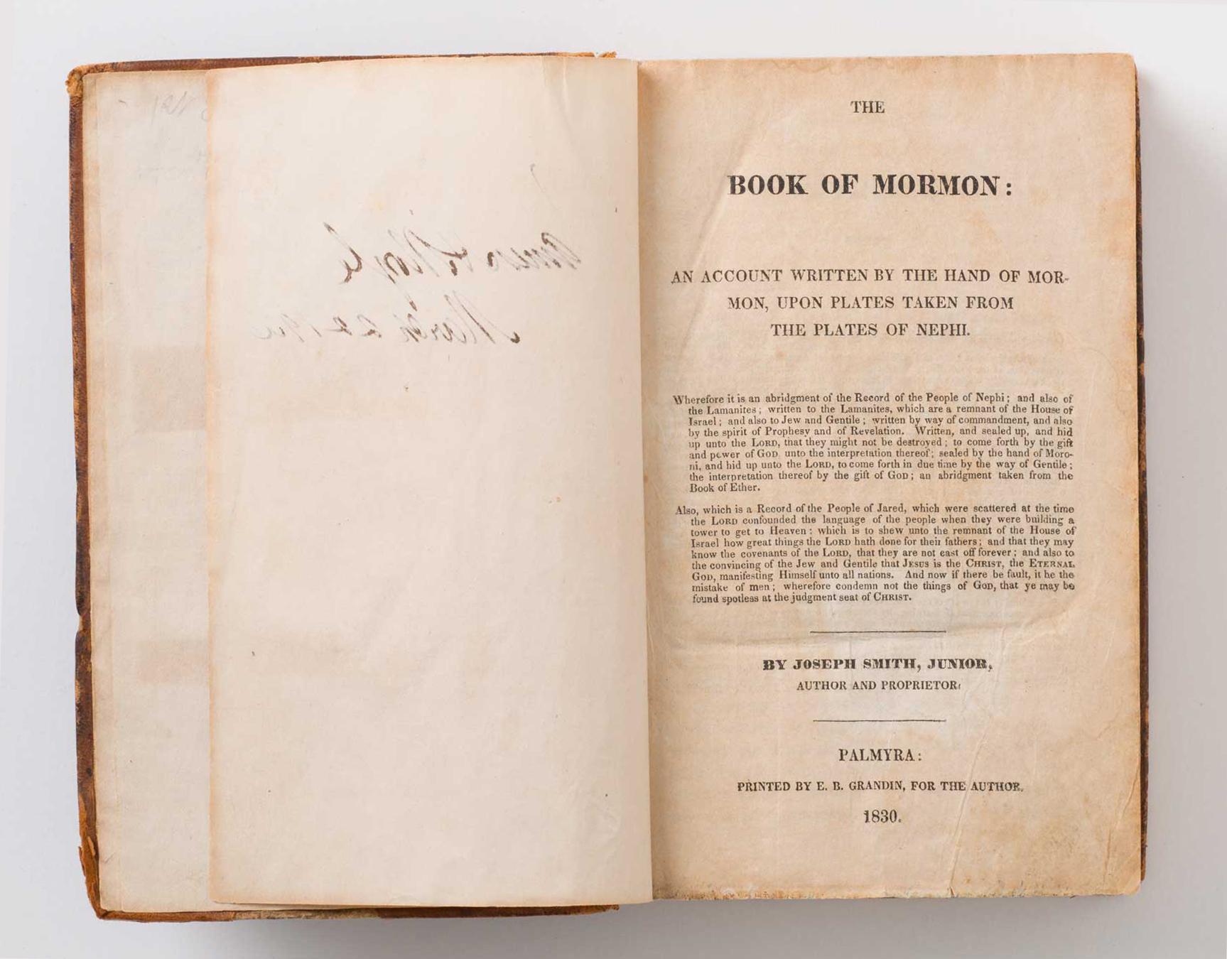 Buch Mormon, Erstausgabe, 1830