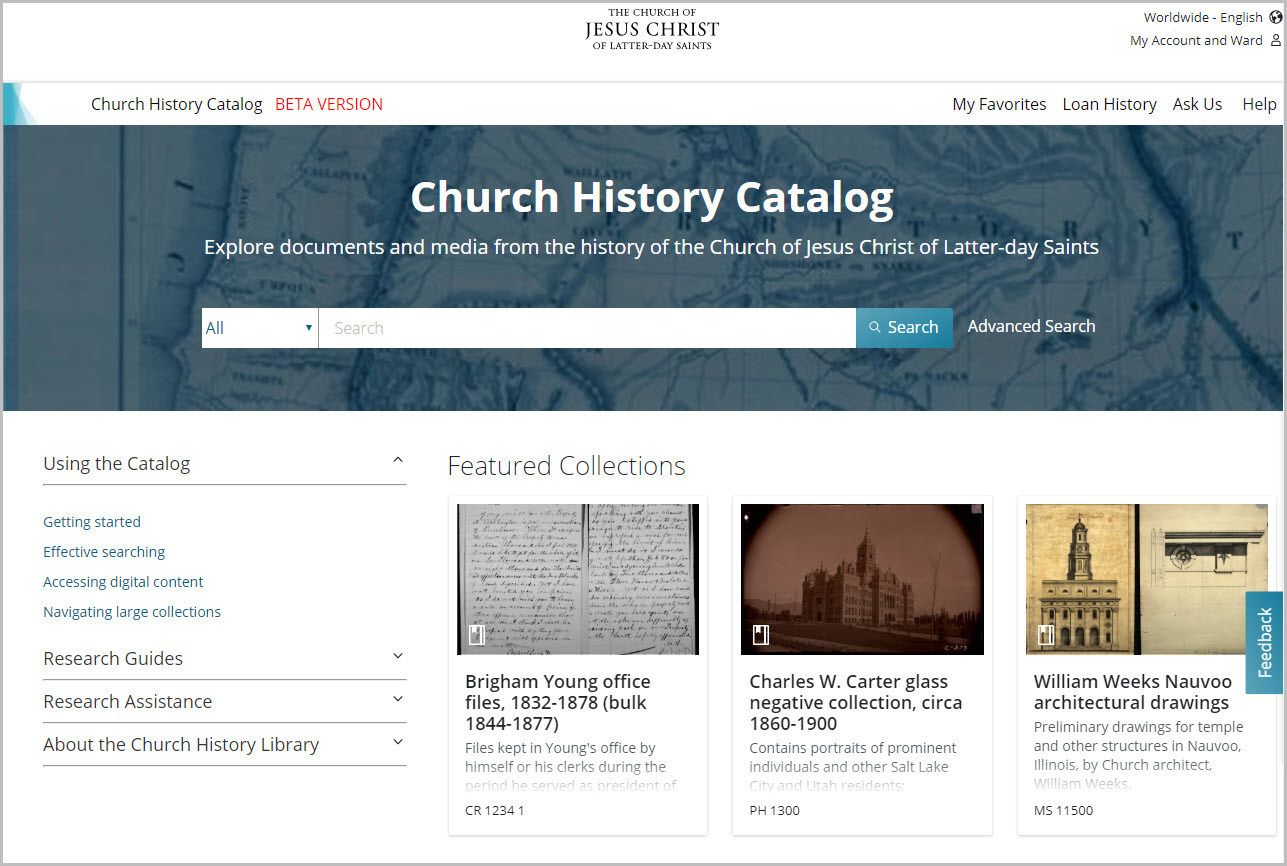 Church History Catalog Beta