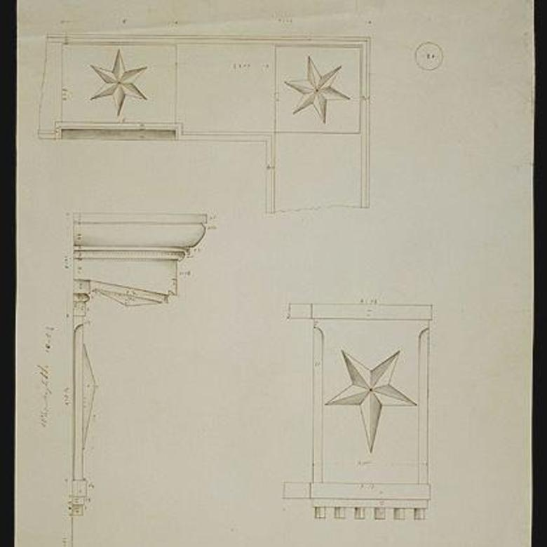 "Architectural Drawing – ""South of Temple"""