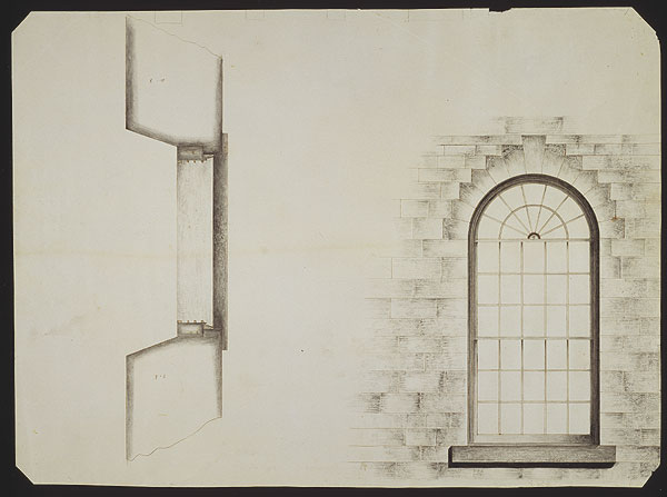 Architectural Drawing Window drawing of a temple window