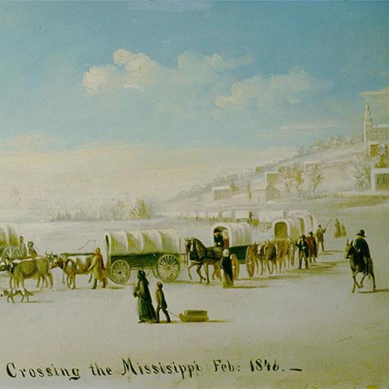 Crossing the Mississippi Feb: 1846