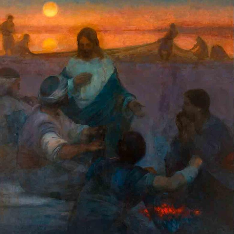 Christ and the Fishermen (Lovest Thou Me More Than These)