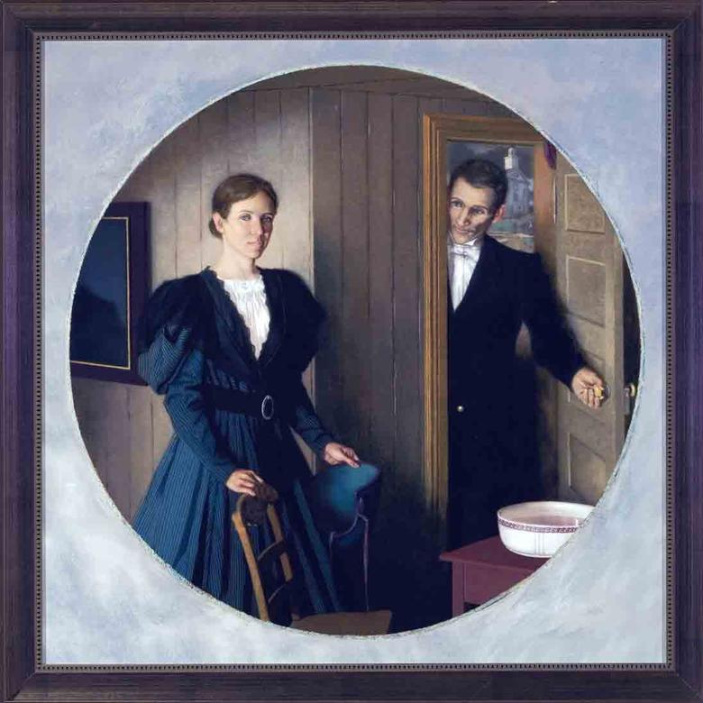 Jerusha Barden Smith and Her Husband, Hyrum, 1836