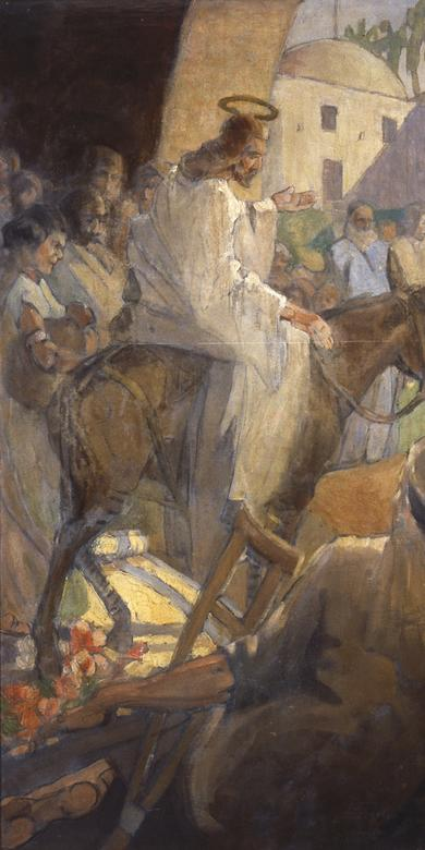 """Christ's Entry into Jerusalem,"" by Minerva Teichert"