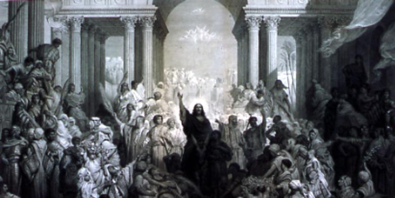 """Christ Entering Jerusalem,"" by Gustave Doré"