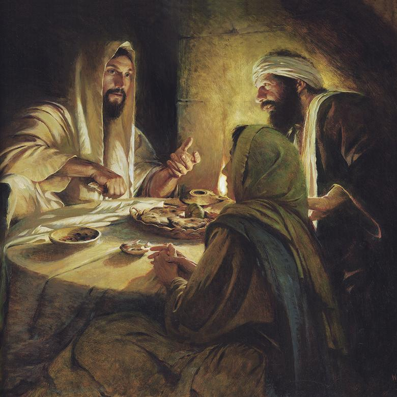"""Christ at Emmaus,"" by Walter Rane"