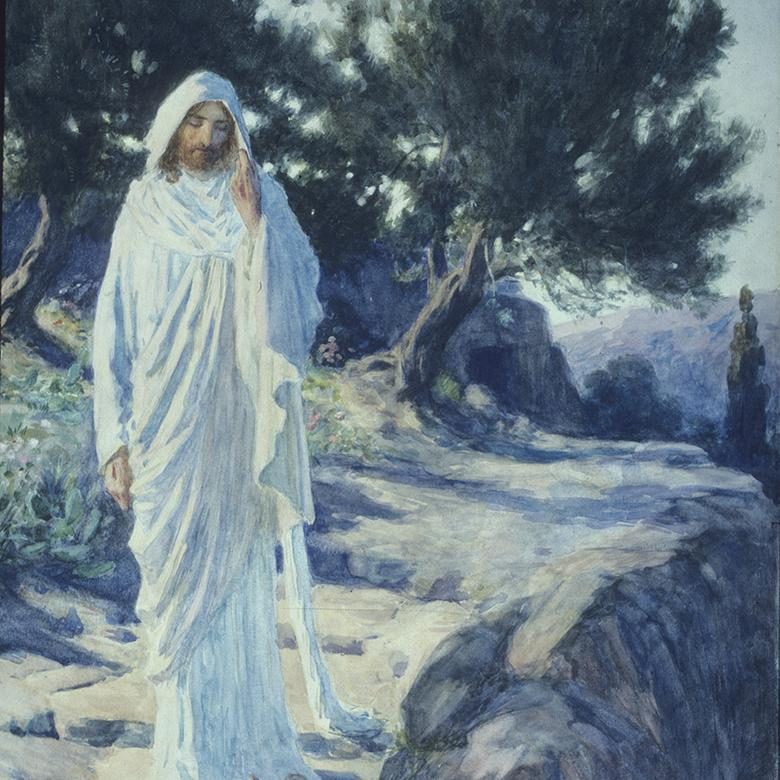 """Jesus Greets Mary after the Resurrection,"" by William Henry Margetson"