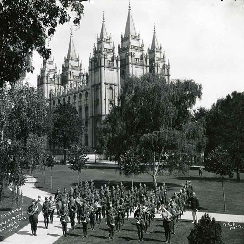 Boy Scout MIA Band on Temple Square