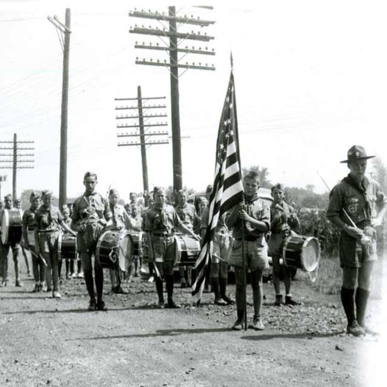 Boy Scout Band from Utah Visiting Palmyra, New York