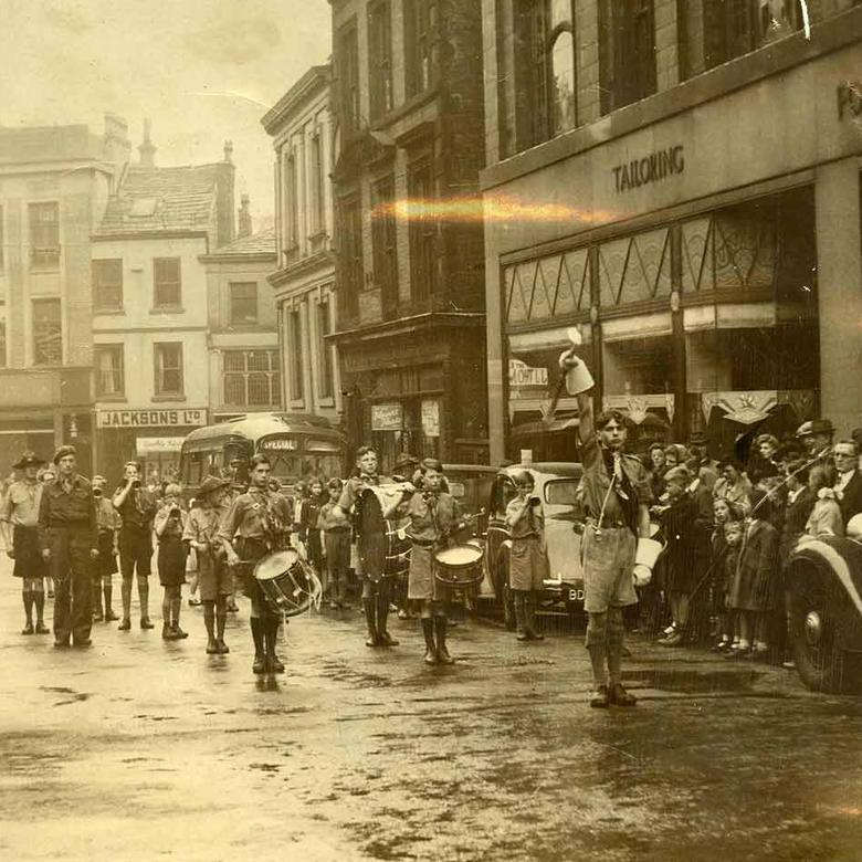 LDS Boy Scout Band in Rochdale, England