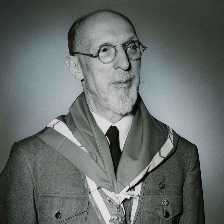 George Albert Smith in His Scout Uniform