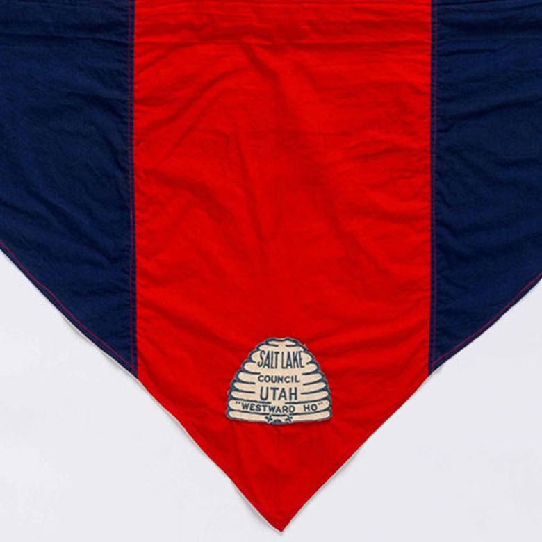 Neckerchief worn by Scout leader ElRay L. Christiansen, who later became a General Authority, from the Salt Lake Council
