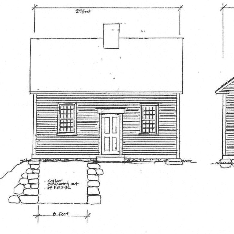 Joseph Smith Birthplace, Elevations Drawing