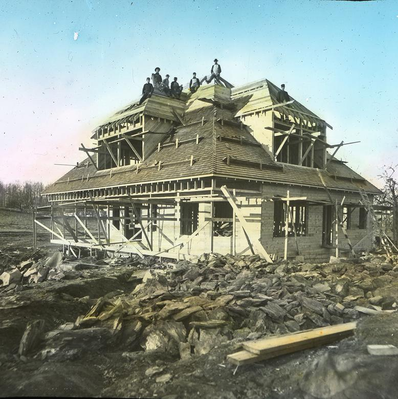 Building the Cottage at the Joseph Smith Monument