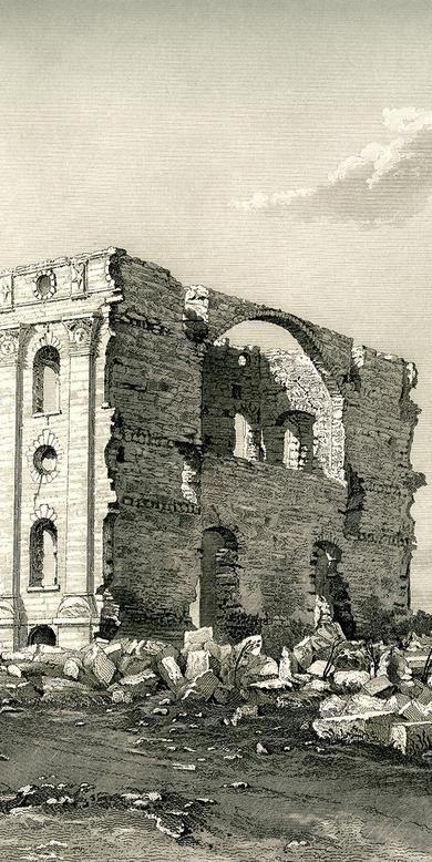 """The Nauvoo Temple in Ruins,"" by Frederick Piercy"