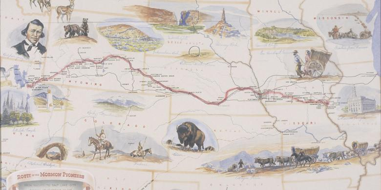 Route of the Mormon Pioneers