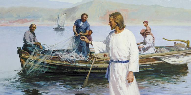 """Christ Calling Peter and Andrew,"" by Harry Anderson"