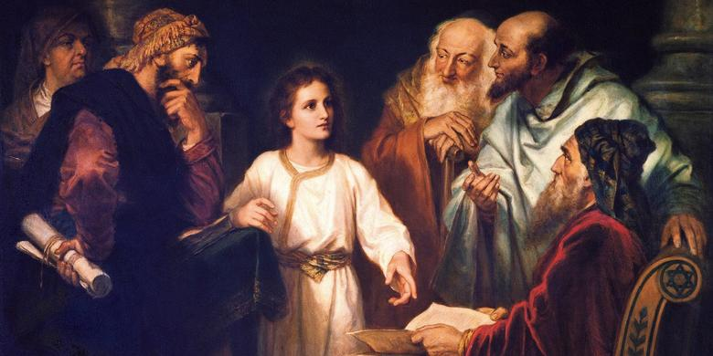 """The Boy Christ Disputing with the Temple Elders,"" by Heinrich Hofmann"