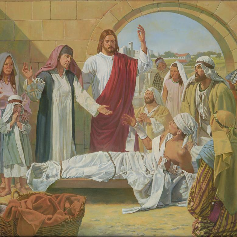"""Christ Raises the Son of the Widow of Nain,"" by Robert T. Barrett"