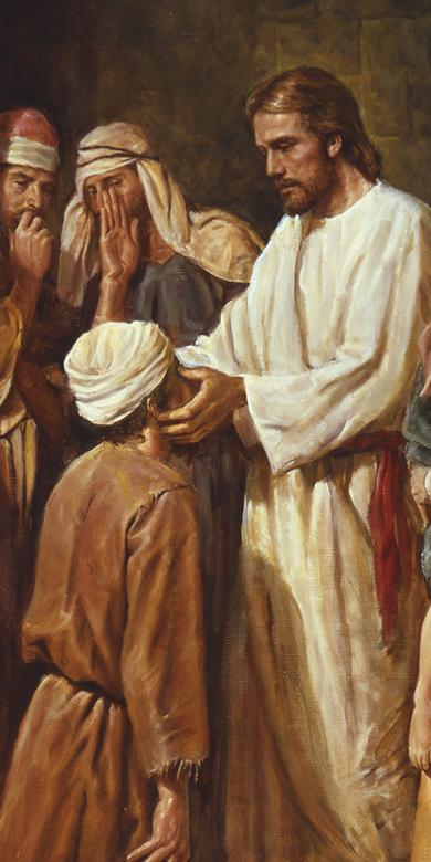 """Christ Healing the Blind Man,"" by Del Parson"