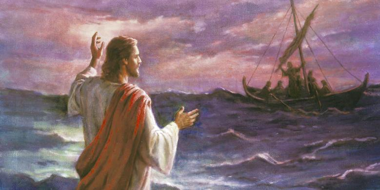 """Christ Walks on the Sea of Galilee,"" by Del Parson"
