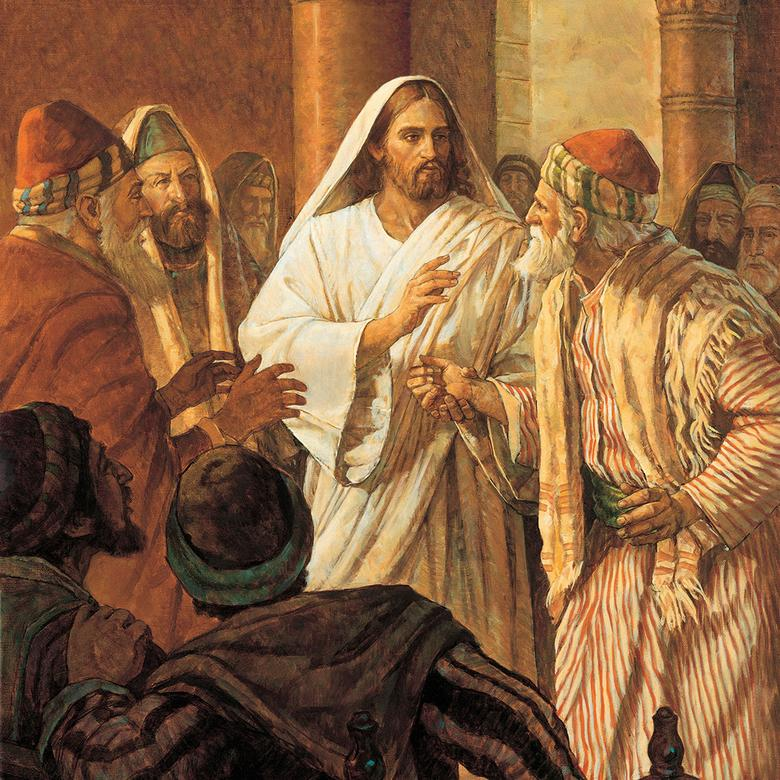 """Christ Healing the Man with the Withered Hand,"" by Robert T. Barrett"