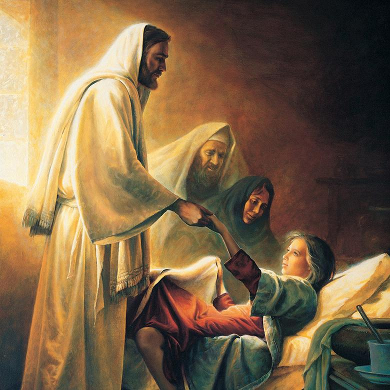 """Christ Raising the Daughter of Jairus,"" by Greg Olsen"