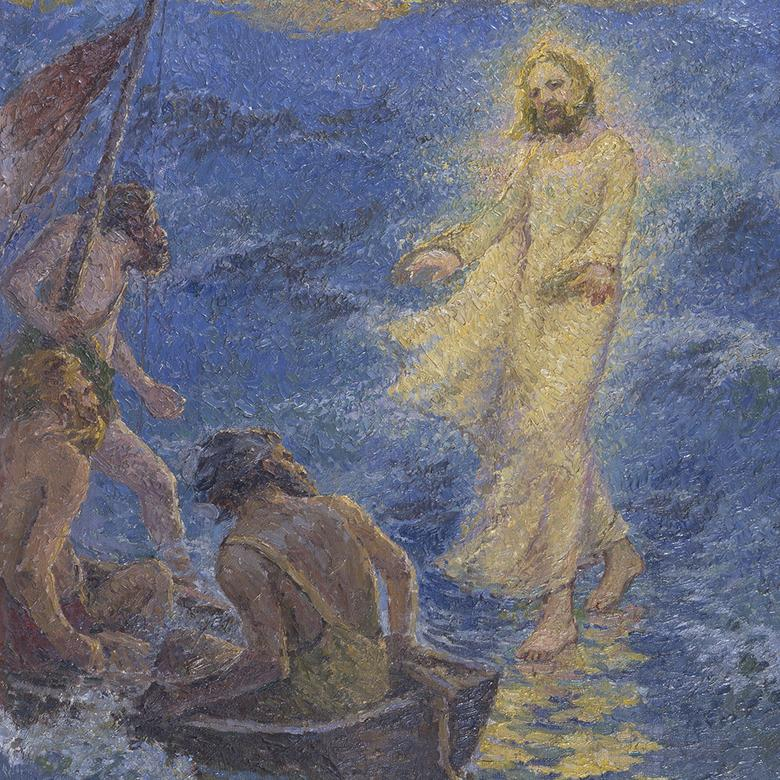 """Christ Walking on the Sea of Galilee,"" by James Taylor Hardwood"