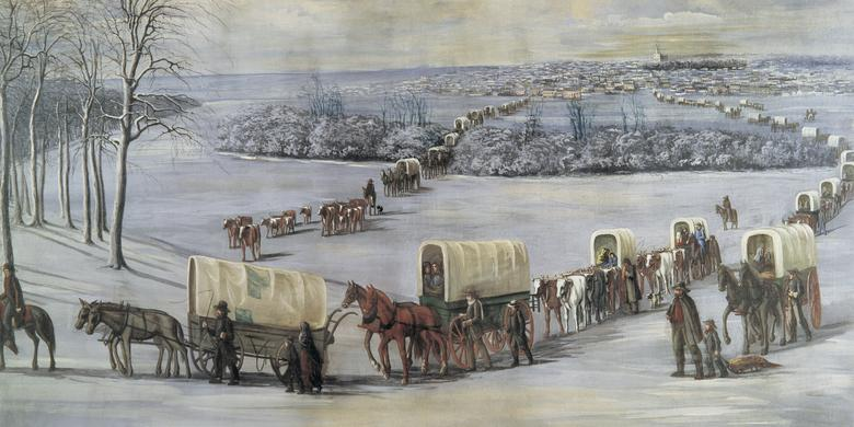 """Crossing the Mississippi on the Ice,"" by C. C. A. Christensen"
