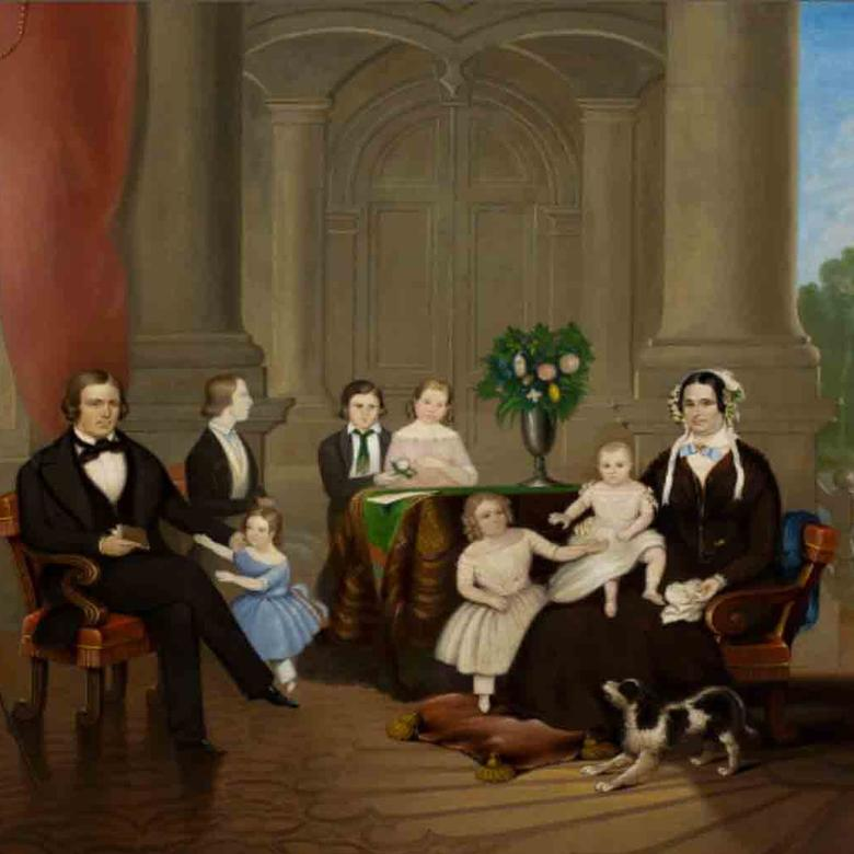 Brigham and Mary Ann Angell Young and their Children