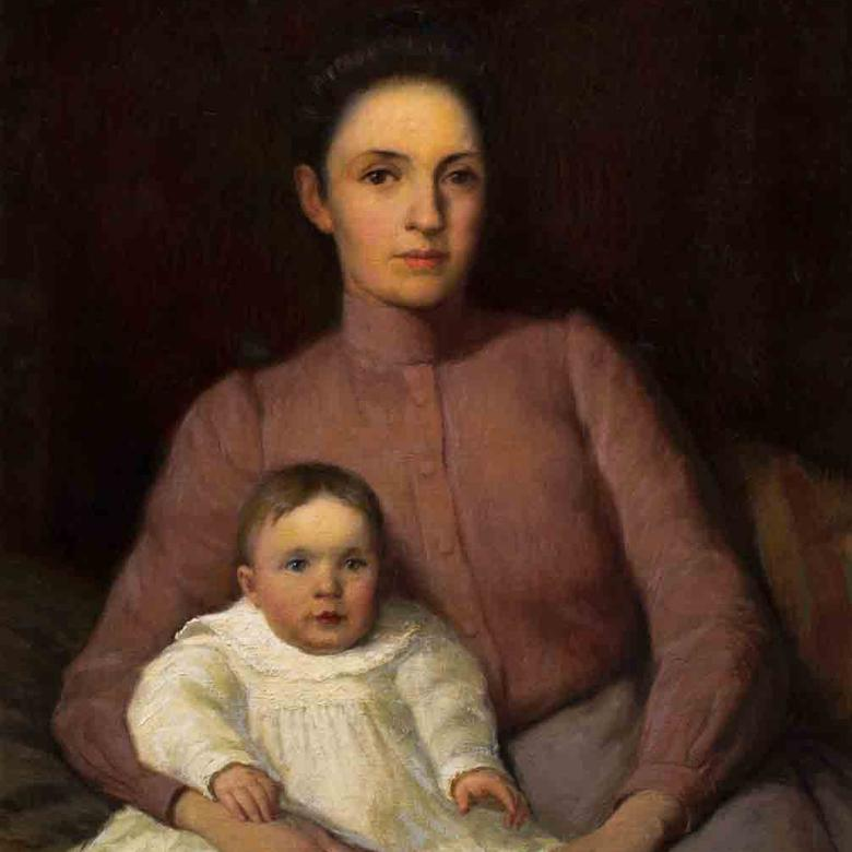 Portrait Of Harriet Richards Harwood And Daughter June