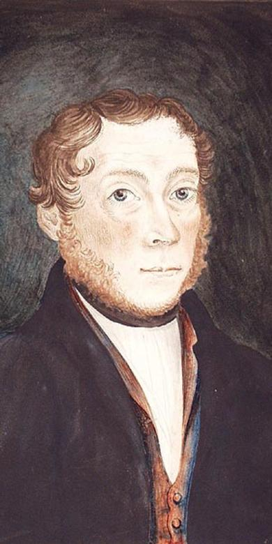 Portrait of a Man with Curly Hair