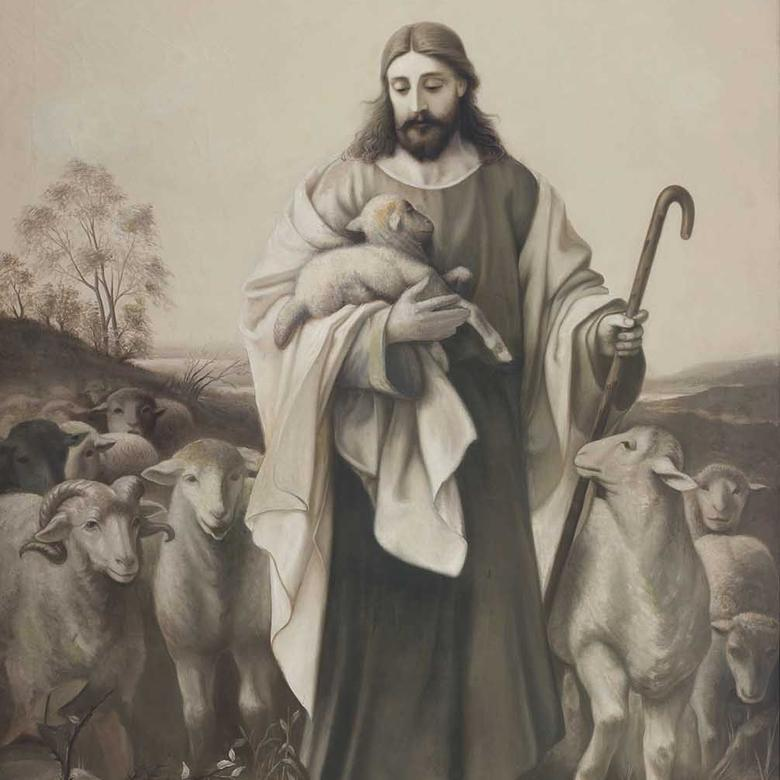 """Christ–The Good Shepherd,"" by Christian Olsen"