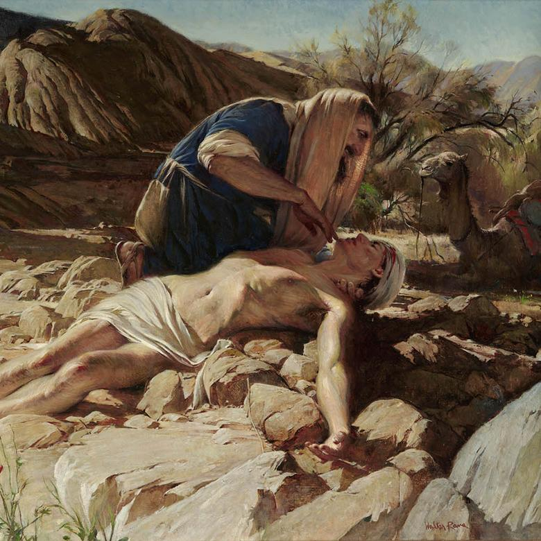 """The Good Samaritan,"" by Walter Rane"