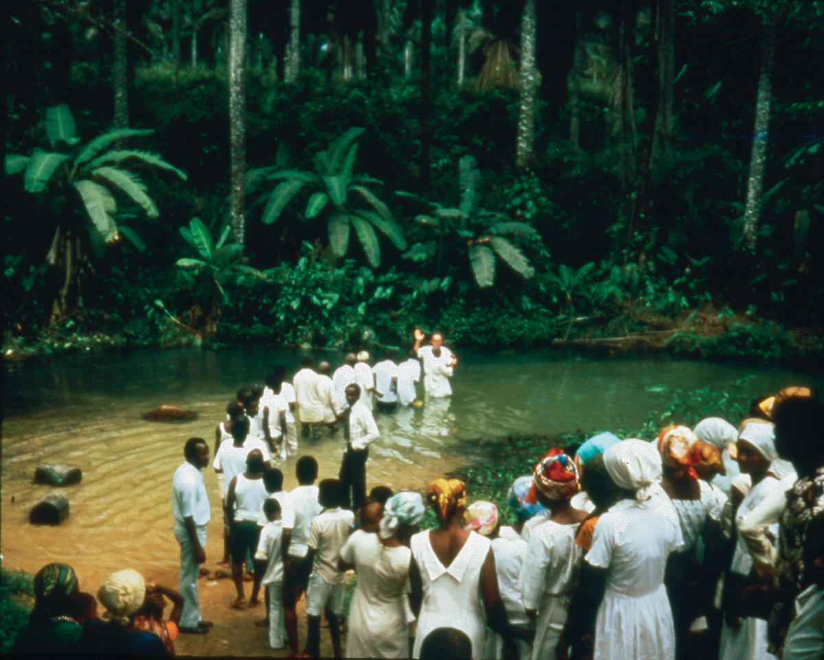 Rare Footage of First Baptisms in West Africa