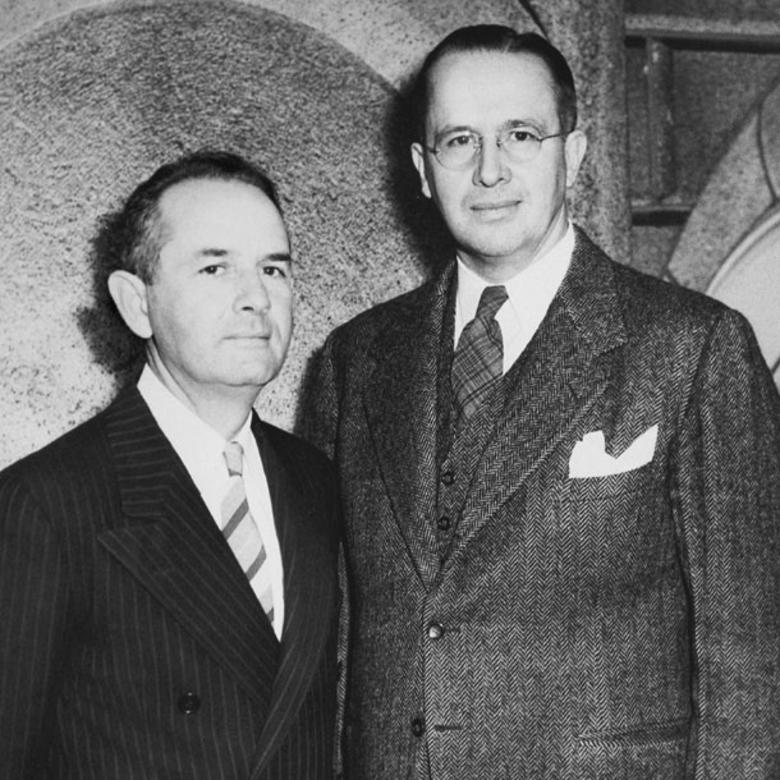 Spencer W. Kimball and Ezra Taft Benson, 1943