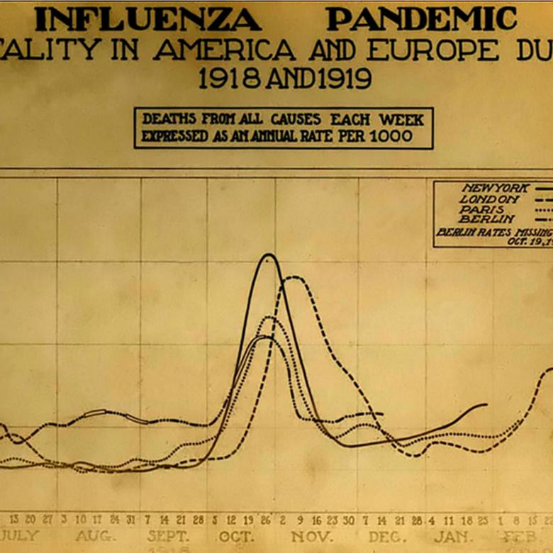 1918 influenza pandemic chart